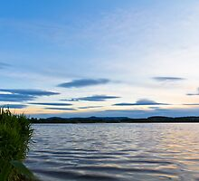 Evening Blues Over Loch of Skene by Bill Buchan