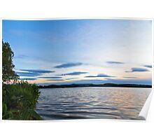 Evening Blues Over Loch of Skene Poster