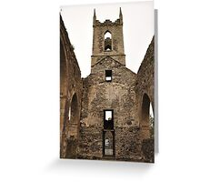 Baltinglass abbey inside view. Greeting Card