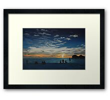 Kuredu Sunset - Maldives Framed Print