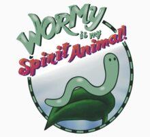 Wormy Is My Spirit Animal! One Piece - Short Sleeve