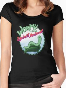 Wormy Is My Spirit Animal! Women's Fitted Scoop T-Shirt