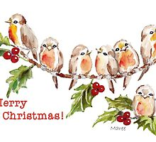 Merry Christmas! 7 Little birds by Maree Clarkson