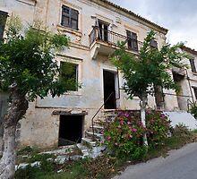 Empty House in Asos, Kefalonia by Melanie Simmonds