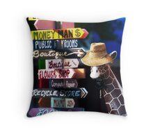 Accidental Tourist Throw Pillow