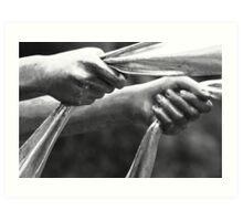 statue hands Art Print
