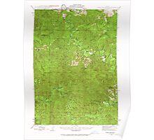 USGS Topo Map Oregon Roman Nose Mtn 282843 1942 62500 Poster