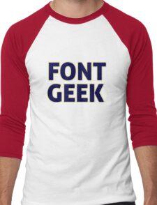 Font Geek Men's Baseball ¾ T-Shirt