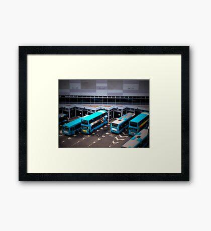 Blue Buses Framed Print