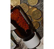 Money & Pills Photographic Print