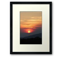 The magical horizon 'Orange'  Framed Print