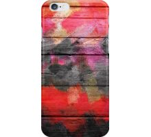 Abstract Color Paint Brush Wood Look iPhone Case/Skin