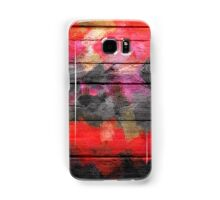 Abstract Color Paint Brush Wood Look Samsung Galaxy Case/Skin