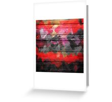 Abstract Color Paint Brush Wood Look Greeting Card