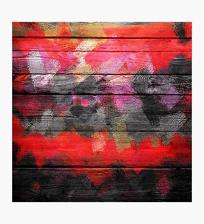 Abstract Color Paint Brush Wood Look Photographic Print
