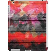 Abstract Color Paint Brush Wood Look iPad Case/Skin