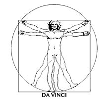 Da Vinci Vitruvian Man Photographic Print