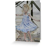 Lizzie Dancing in the Sands under the Pier on The Isle of Palms Greeting Card