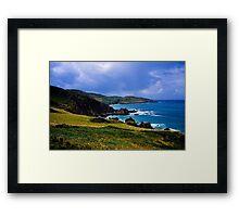 Devon coast on a sunny day Framed Print