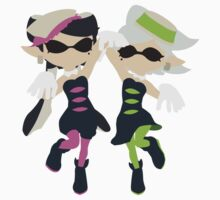 Callie & Marie (Green) - Splatoon One Piece - Short Sleeve