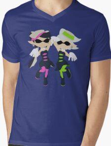 Callie & Marie (Green) - Splatoon Mens V-Neck T-Shirt