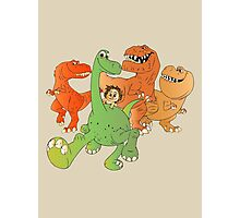 A Crew of Good Dinos Photographic Print