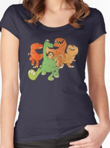 A Crew of Good Dinos Women's Fitted Scoop T-Shirt