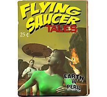 Flying Saucer Tales Fake Pulp Cover Photographic Print
