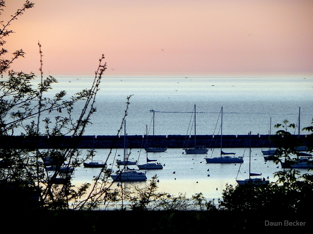Milwaukee at sunrise © by Dawn Becker