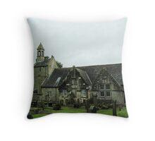 Kilbirnie Auld Kirk exterior 1 Throw Pillow