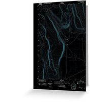 USGS Topo Map Oregon Corporation Rim 20110816 TM Inverted Greeting Card