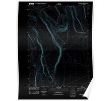 USGS Topo Map Oregon Corporation Rim 20110816 TM Inverted Poster