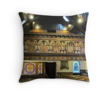 Kilbirnie Auld Kirk interior 3 Throw Pillow