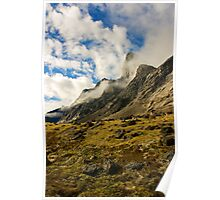 Ribbons of Cloud - Auyuittuq National Park, Canada Poster