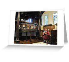 Kilbirnie Auld Kirk interior 4 Greeting Card