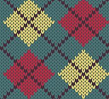 Retro Knit Argyle by Kelsey Cretcher