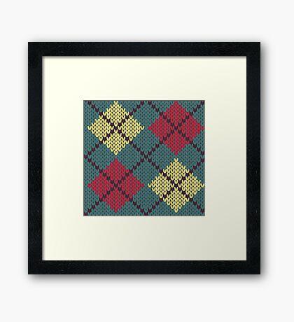 Retro Knit Argyle Framed Print