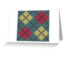 Retro Knit Argyle Greeting Card