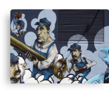 Workers Graffiti Canvas Print