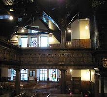 Kilbirnie Auld Kirk interior 6 by Ray Vaughan