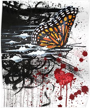 Butterfly Effect Painting by blacktearink