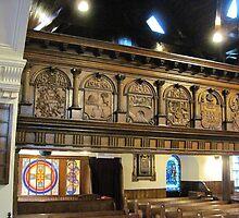 Kilbirnie Auld Kirk interior 9 by Ray Vaughan