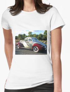 Packard #5 - Grey & Red  Womens Fitted T-Shirt