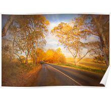 Autumn Road - Woodside, The Adelaide Hills, South Australia Poster