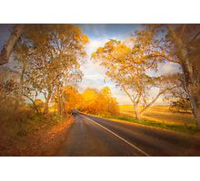 Autumn Road - Woodside, The Adelaide Hills, South Australia Photographic Print
