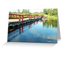 Floating Bridge Greeting Card
