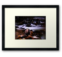 Silky Stream Framed Print