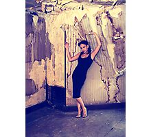 Pin Up in abandonments - Model RavenAngel Photographic Print