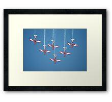 RAAF Roulettes Aerobatic Team @ Williamtown 2010 Framed Print