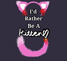 I'd Rather Be A Kitten..Pink Girly Style Tank Top